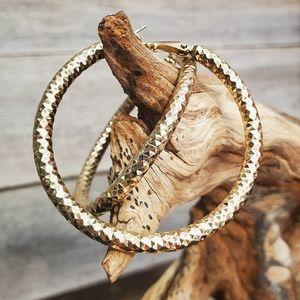 Gold Design Hoop Earrings